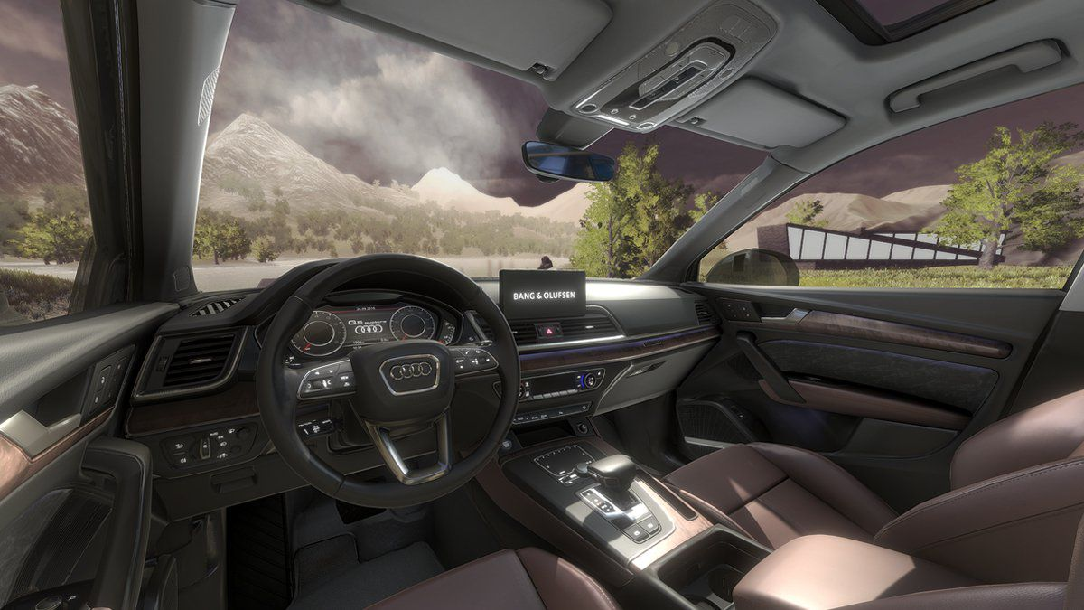 Bang Olufsen Audi Journey into Sound Auto Render Nature
