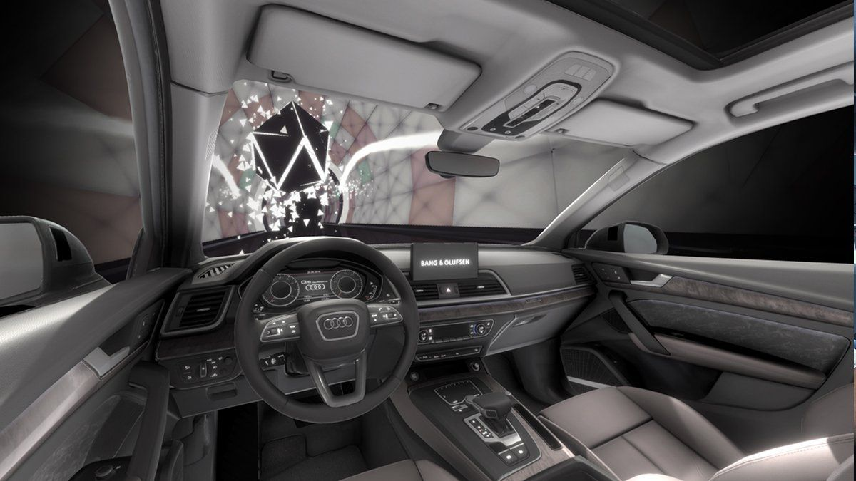 Bang Olufsen Audi Journey into Sound Auto Render Tunnel