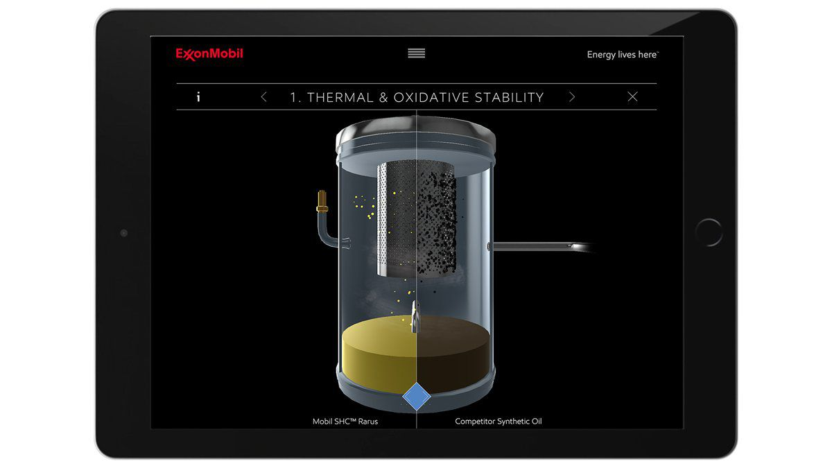 ExxonMobil 3D Sales Booster Ipad Solution Thermal and oxidative stability