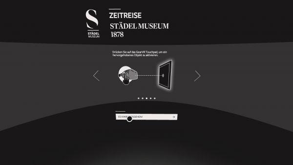 NMY I Städel Museum I Virtuelle Zeitreise I Interaktionskonzept