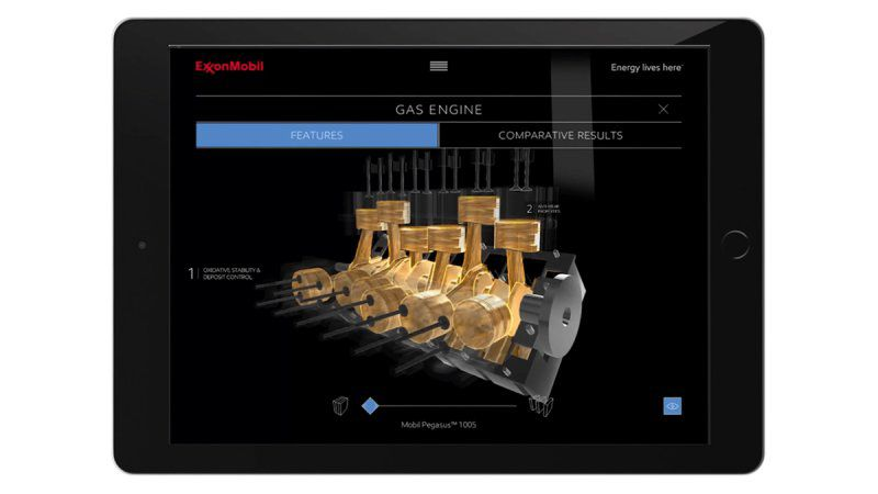 ExxonMobil 3D Sales Booster Ipad Solution Gas Engine