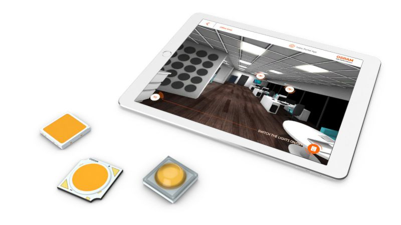 Virtueller Produktkatalog Mission LEDs iPad View