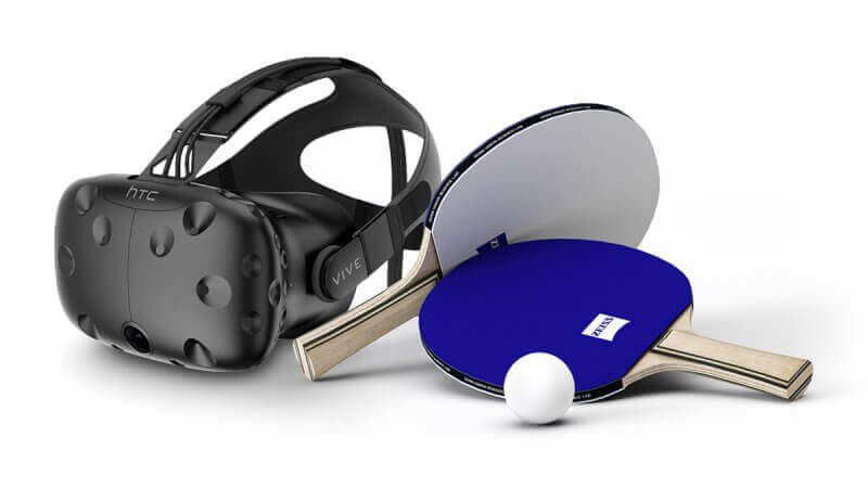 ZEISS VR Science Vision Lab Mission HTC Vive VR with ping pong