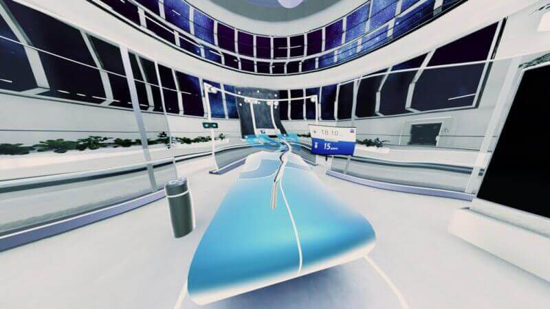 ZEISS VR Science Vision Lab Approach in App view ping pong table
